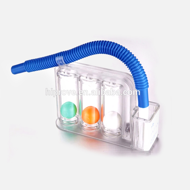 Portable Respiratory Training Medical Device/Three Ball Incentive Spirometer
